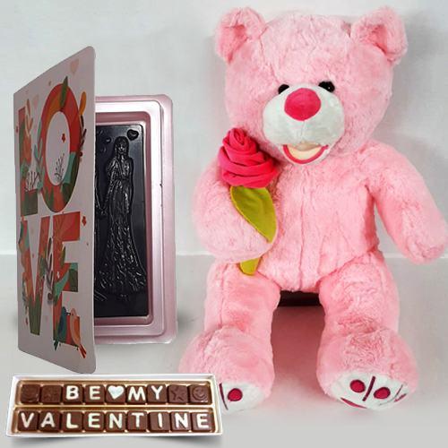 Irresistible Chocolates N Big Teddy Propose Day Gift Combo