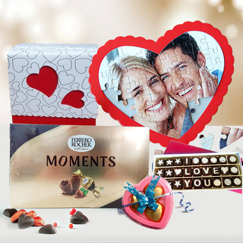 Outstanding Personalized Photo Puzzle n Chocolates
