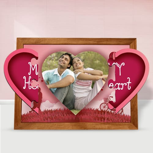 Lovely Personalized Magnetic Heart Photo Frame