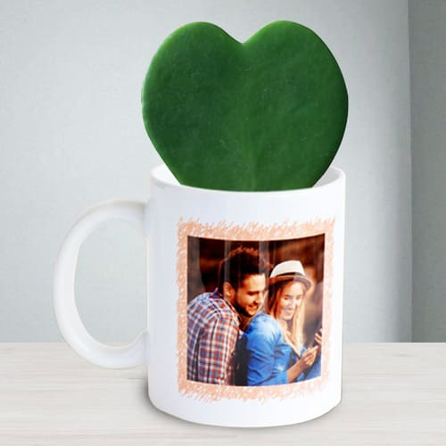 Stunning Hoya Heart Plant in Personalized Coffee Mug