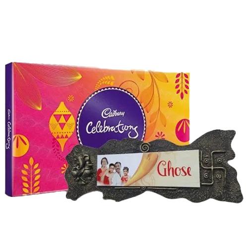 Fantastic Birthday Combo of Handmade Name Plate n Assorted Chocolates