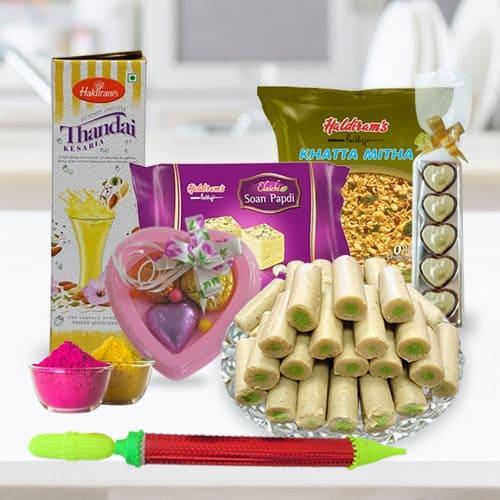 Amusing Holi Food Assortments Gift Hamper