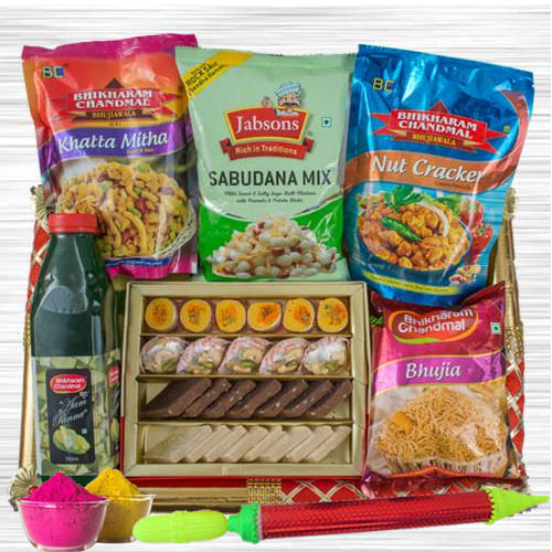 Enticing Munches Gift Hamper for Holi