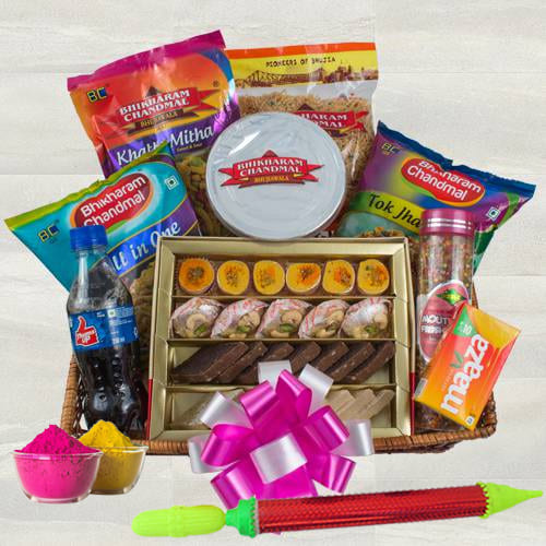 Ambrosial Sweets n Snacks Gift Hamper for Holi