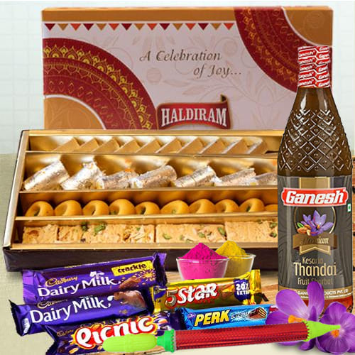Yummy Holi Assortment of Haldirams Sweets n Cadbury Chocolates