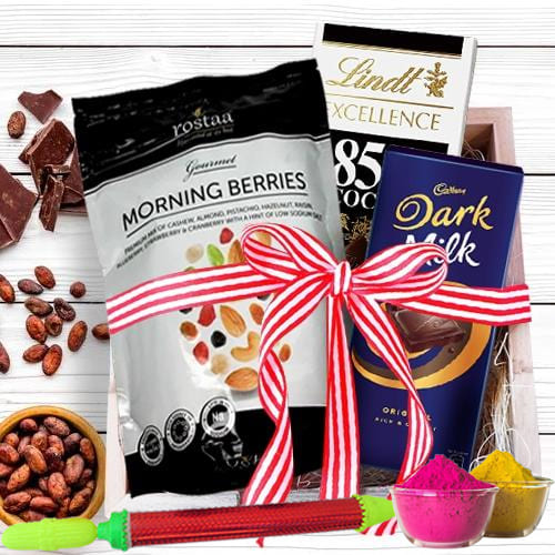 Scrumptious Chocolates Gift Hamper for Holi