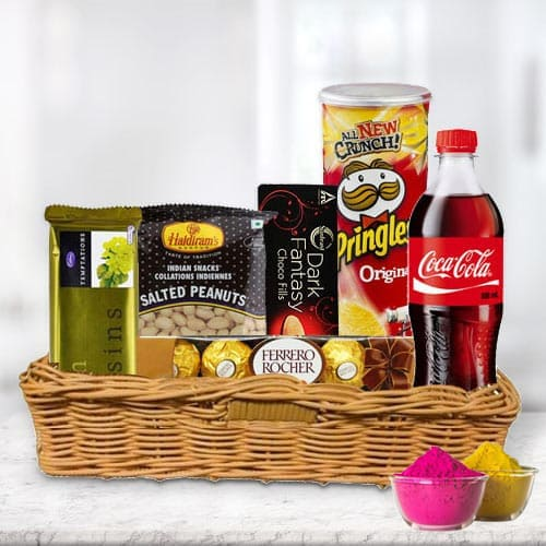 Sumptuous Snacks Gift Hamper for Holi