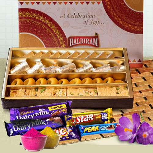 Ambrosial Sweets n Chocolates Gift Combo for Holi