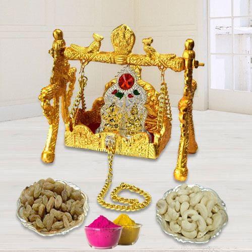Divine Ganesh Laxmi Palana with Ganesh Laxmi Mandap n Dry Fruits