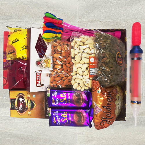 Impressive All-in-One Holi Gift Hamper
