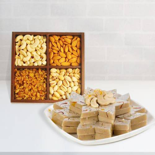 Haldirams Kaju Katli and Dry fruit
