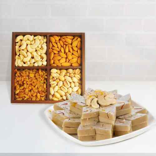 Mixed Dry Fruits N Haldirams Kaju Katli