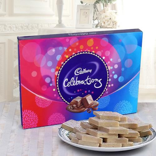 Cadbury Celebrations Pack N  Haldirams Kaju Katli