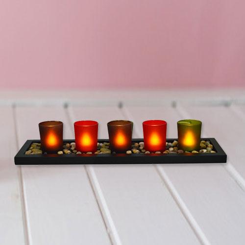 Visually Stimulating Christmas Candles with Festive Spirit