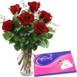Cadbury Celebrations Pack N Red Roses