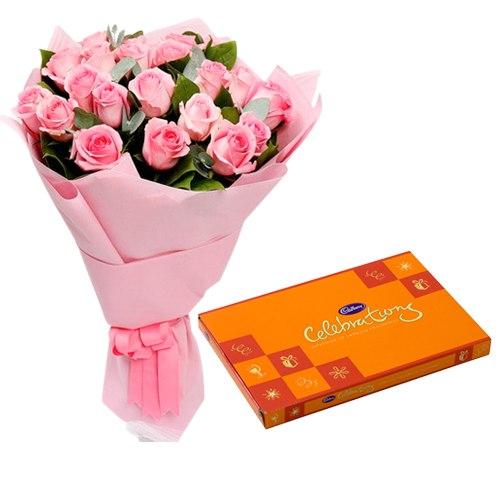 Cadbury Celebrations N Pink Roses Combo
