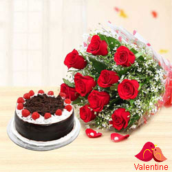 Cake and Flower to Chandigarh by Chandigarh Florist