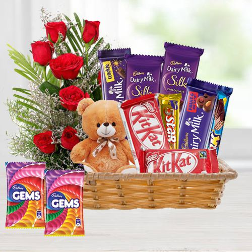 Merry Mix Flower Greetings with Chocolate Assortments
