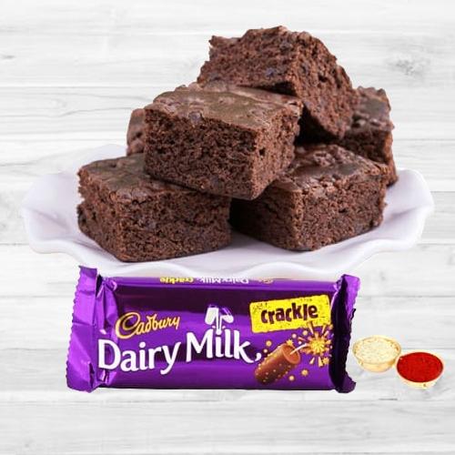 Delicious Cadbury Crackle N Brownie
