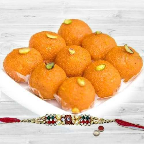 Haldirams Pure Ghee Ladoo with Rakhi