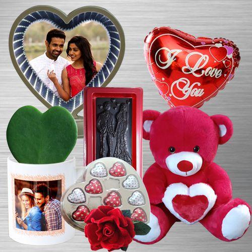 Admirable Jumbo Valentine Gift Combo for Fiancee