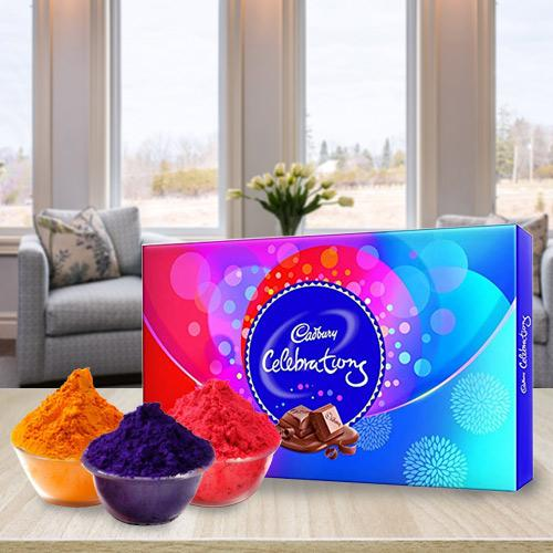 Fun Filled Herbal Gulal with Cadbury Chocolates