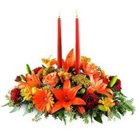 Assorted Flowers N Candles