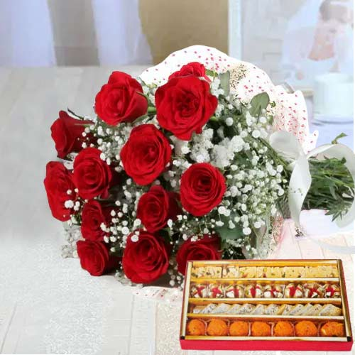 Red Roses N Sweets Hamper