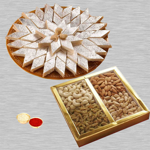 Kaju Kaltli with Dry Fruits