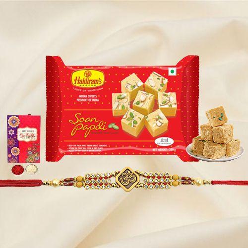 Spectacular Haldiram's Soan Papri with a Splendid Rakhi
