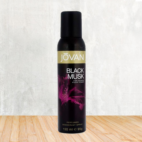 Attractive Fragrance of Jovan Black Musk Deo Spray for Women
