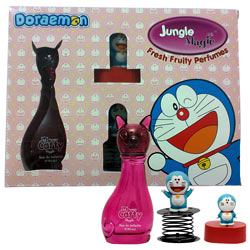 Cool Collection of Jungle Magic Perfume, Doraemon Sharpener and Doraemon Fun Spring