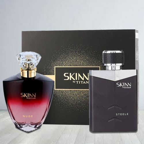 Lovely Titan Skinn Nude and steele Fragrances Pair