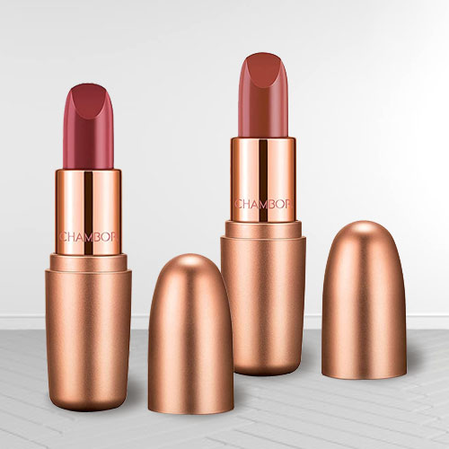 Wonderful Chambor Nutty Caramel N Dusty Rose Lipstick