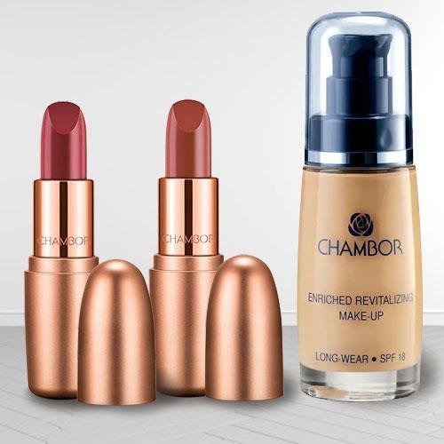 Amazing Chambor Make Up N Matte Lipstick Set