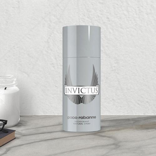 Exciting Mens Gift of Paco Rabanne Invictus Deodorant Spray<br>