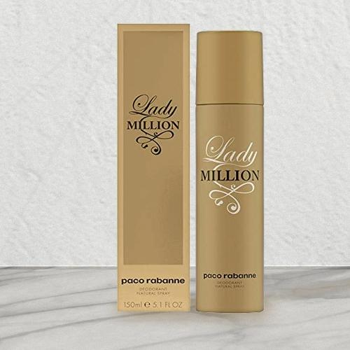 Charming Gift of Paco Rabanne Million Deodorant Spray for Ladies