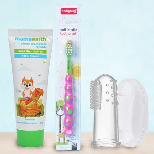 Soft Touch Babies Tooth Care Combo from Mamaearth