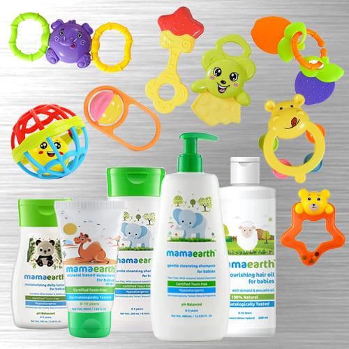 Lovely New Born Essentials Gift Hamper