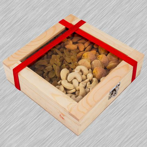 Treasured Wooden Gifts Box of Assorted Dry Fruits
