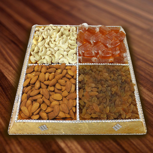 Awesome Tray of Mixed Dry Fruits