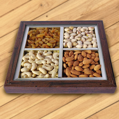 Tray Loaded with Dry Fruits