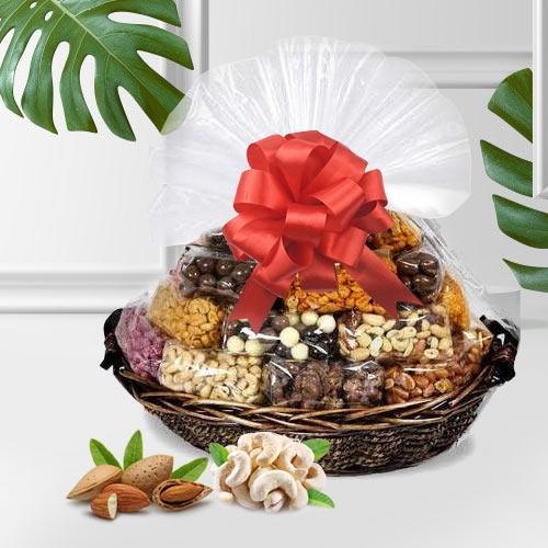 Tasty Assorted Dry Fruits Gift Basket