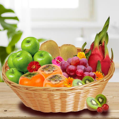 Delicious Basket of Exotic Fruits