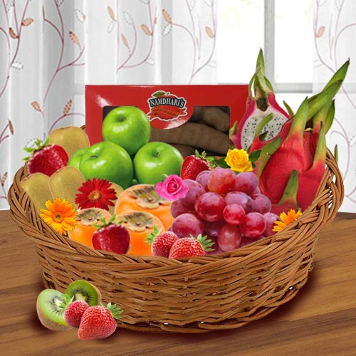 5 Kgs Imported Fruits Basket