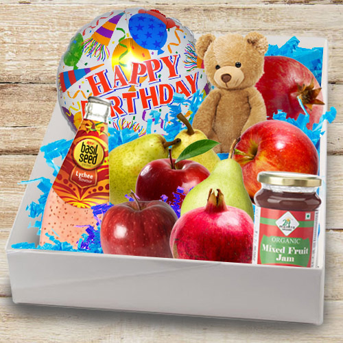 Box of Tasty Fresh Fruits N Assortments
