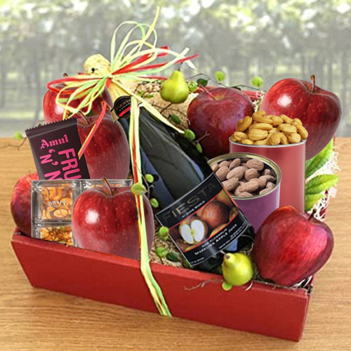 Enticing Tray of Fresh Fruits N Assortments