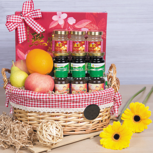 Delicious Wellness Gift Basket of Exotic Fruits