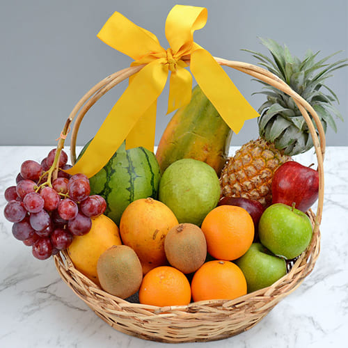 Voluptuous Fresh Fruits Gift Basket