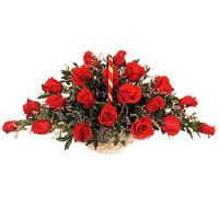 Artistic 24 Archangelic Red Roses with Pure Love